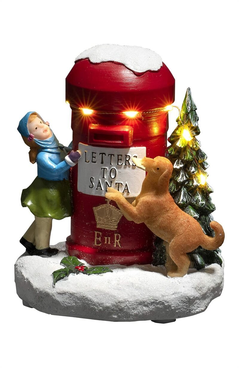 Joulukoriste postilaatikko