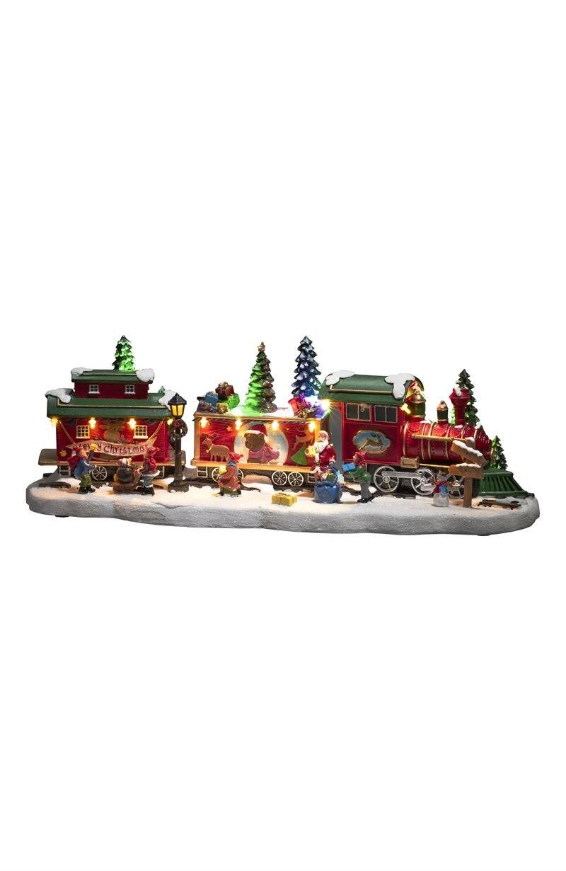 Joulukoriste juna Tåg med vagnar
