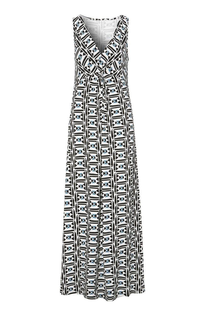 Kuvioitu pitkä mekko Gioia